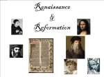 Middle Ages Renaissance