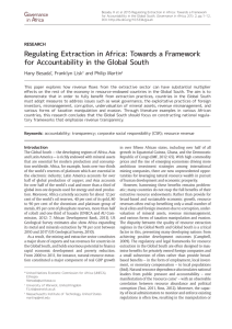 Towards a Framework for Accountability in the Global South