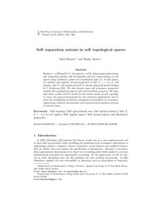 Soft separation axioms in soft topological spaces