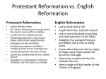 Protestant Reformation vs. English Reformation