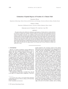Estimation of Spatial Degrees of Freedom of a Climate