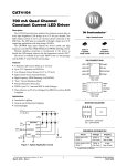 CAT4104 - 700 mA Quad Channel Constant Current LED Driver