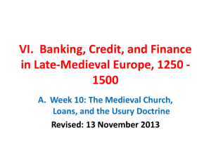 VII. Banking, Credit, And Finance In Late-Medieval Europe