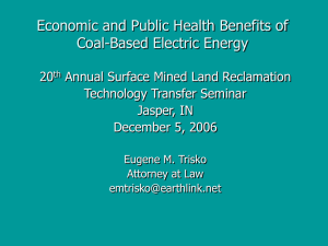 Economic and Public Health Benefits of Coal Utilization