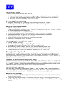 Hoarding Fact Sheet - International OCD Foundation