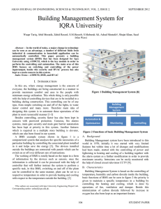 Building Management System for IQRA University