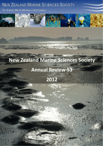 Number 53: 2011  - New Zealand Marine Sciences Society