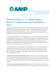 Peritoneal Dialysis A – Z: Implant Surgery