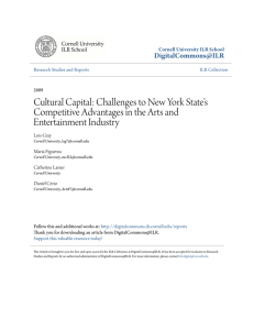 Challenges to New York State`s Competitive Advantages in the Arts