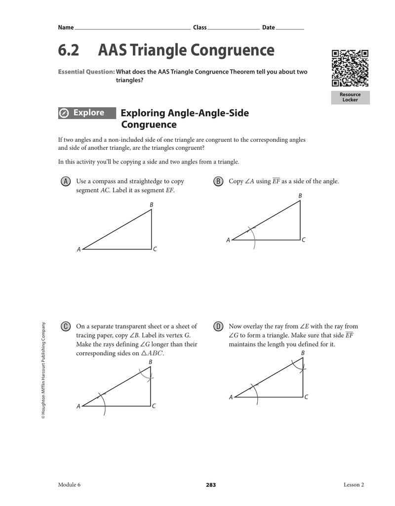 6.2 AAS Triangle Congruence