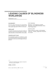 leading causes of blindness worldwide