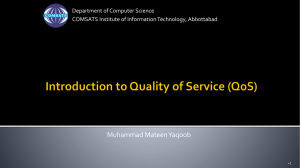 Introduction to Quality of Service (QoS)