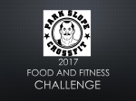 2nd Food and Fitness Challenge