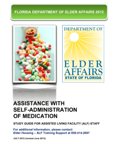 ASSISTANCE WITH SELF-ADMINISTRATION OF MEDICATION