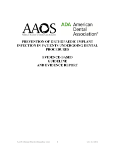 Report Title - American Dental Association