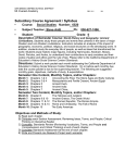 Subsidiary Course Agreement / Syllabus
