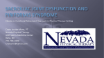 Piriformis Syndrome - University of Nevada, Reno School of Medicine