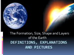 Formation, Size and Shape of the Earth