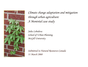Climate change adaptation and mitigation through urban agriculture