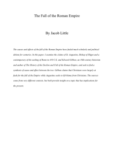 The Fall of the Roman Empire By Jacob Little