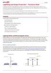 Lightning and Surge Protection – Technical Note
