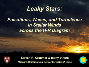 Leaky Stars: Pulsations, Waves, and Turbulence in Stellar Winds