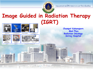 Image Guided in Radiation Therapy (IGRT)