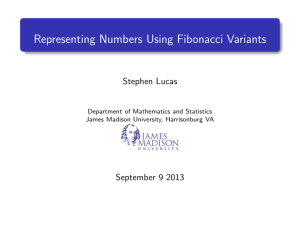 Representing Numbers Using Fibonacci Variants
