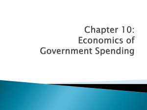 Chapter 10: Government Spending