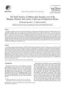 The North America±Caribbean plate boundary west of the Motagua