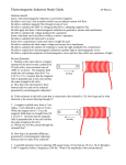 Electromagnetic Induction Study Guide