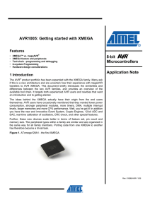 AVR1005: Getting started with XMEGA