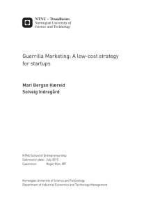 Guerrilla Marketing: A low-cost strategy for startups