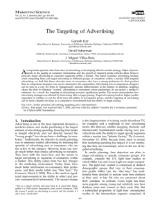 The Targeting of Advertising - Faculty Directory | Berkeley-Haas