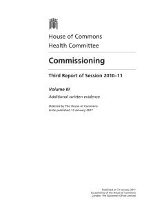 Commissioning - Publications.Parliament
