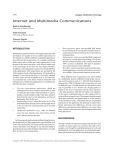 Internet and Multimedia Communications