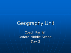 Geography Unit - Oxford School District