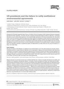 US presidents and the failure to ratify multilateral environmental