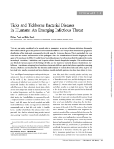 Ticks and Tickborne Bacterial Diseases in Humans: An Emerging