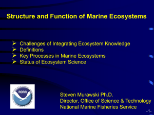 Structure and Function of Marine Ecosystems