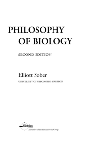 philosophy of biology - Carol Eunmi LEE