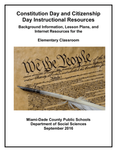 Elementary Constitution Day Resource Guide 2016