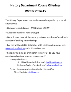 History Department Course Offerings Winter 2014-15