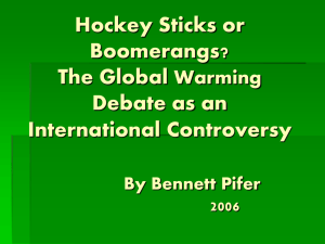 Hockey Sticks or Boomerangs? The Global Warming Debate as an