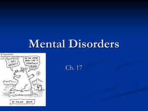 Chapter 17 - Disorders