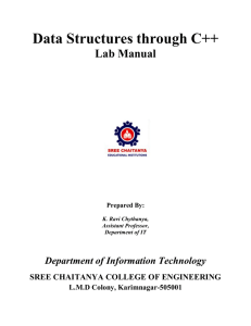 Data Structures through C++ Lab Manual