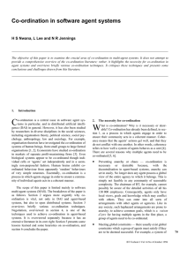 Co-ordination in software agent systems