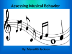 Traditional Approaches to Assessing Classroom Music Achievement