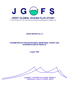 JGOFS report Nr. 27 - Joint Global Ocean Flux Study