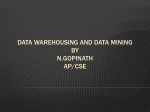 Data Warehousing and Data Mining By N.Gopinath AP/CSE